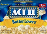 popcorn act ii - Act II Butter Lovers Microwave Popcorn 4 Boxes of 3 (12 Bags Total)