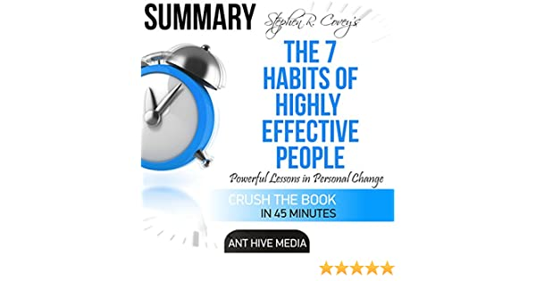 Amazon Summary Of Steven R Coveys The 7 Habits Of Highly