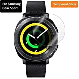 KOKO® Tempered Glass Screen Protector with Curved Edges and 9H Hardness - Full Glue Edge-Edge Screen Protection for Samsung Gear Sport