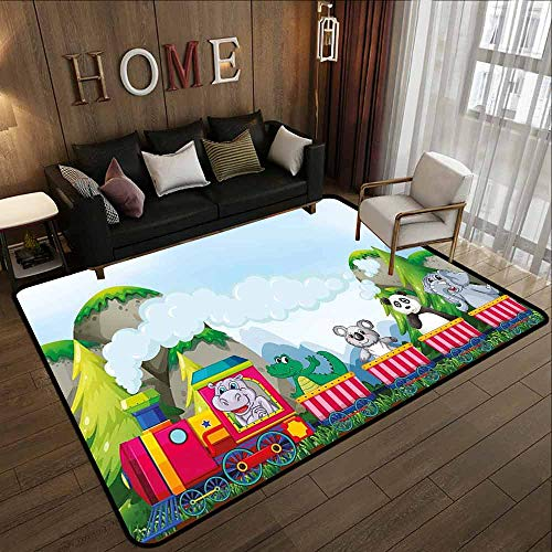 Classroom Rug,Kids,with No-Slip Backing,6'6