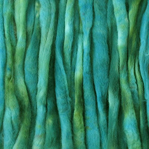 Living Dreams Hand Dyed Wool Roving, Super Fine Craft Fiber for Needle and Wet Felting, 1 Ounce, Myrtle (Hand Dyed Roving)