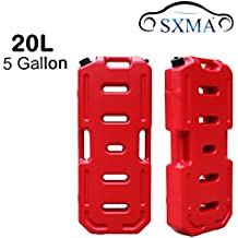 SXMA Fuel Tank Cans Spare 5 Gallon Portable Fuel Oil Petrol Diesel Storage Gas Tank Emergency Backup for Jeep JK Wrangler SUV ATV Car Motorcyc Toyota ect Most Cars (20L, Red)(Pack of 1)