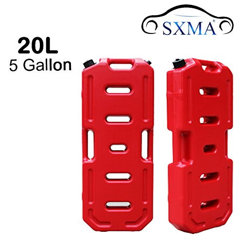 SXMA Fuel Tank Cans Spare 5 Gallon Portable Fuel Oil Petrol Diesel Storage Gas Tank Emergency Backup for Jeep JK Wrangler SUV ATV Car Motorcyc Toyota ect Most Cars(J171) (5 Gallon, Red) by SXMA