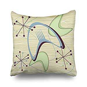 Custom Throw Pillows Covers Mid Century Modern 1950s Style