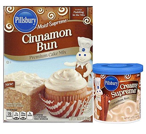 Supreme Frosting (Pillsbury Cinnamon Bun Moist Supreme Premium Cake Mix + Creamy Supreme Cinnamon Bun Frosting)