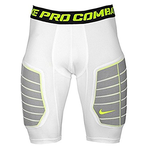 (Nike Pro Combat Hyperstrong Elite Men's Compression Basketball Shorts 3XL White)