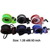 LZLRUN 6Pcs Expanable Braided Mesh Jacket Wrap Casting Fishing Rod Sleeve Cover Pole Glover Tip Protector Bag Sock Fishing Tools(1.26 x 66.93inches)