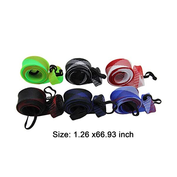 Mesh Wrap Casting Fishing Rod Sleeve Cover Pole Glover Tip Protector Bag
