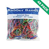 Assorted Rubber Bands, 48 Units Of Bazic Rubber Band Variety Size 0.5 Lbs.