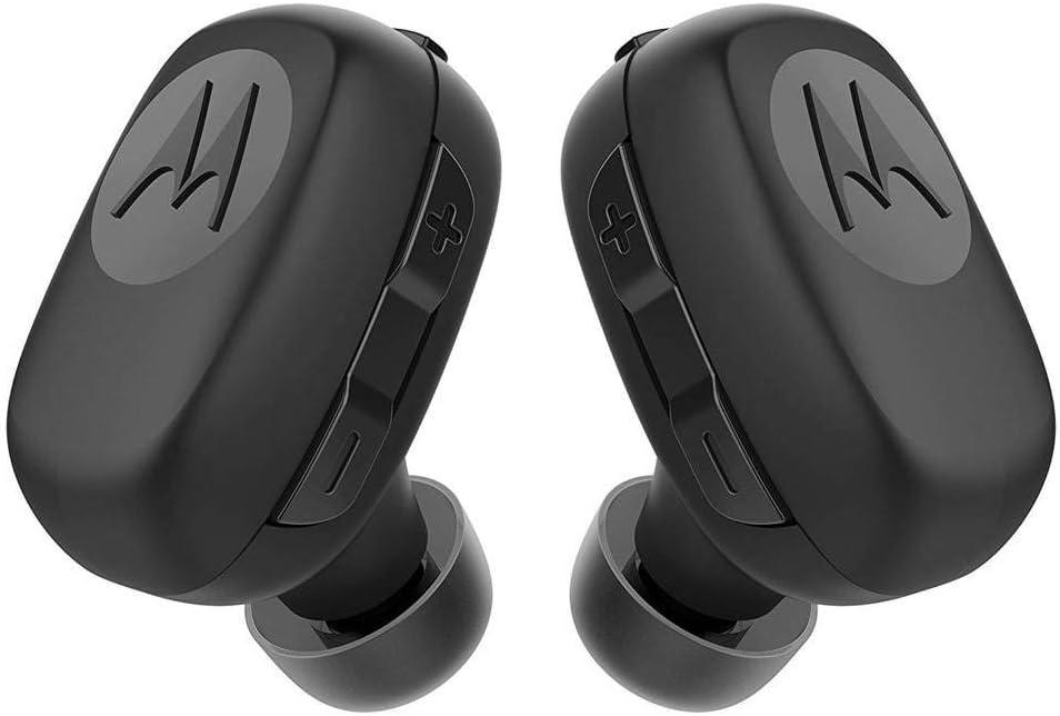 Motorola Stream - Mini Bluetooth Auriculares Inalámbricos con Cargador - Alexa, Siri y Google Now compatible - Negro