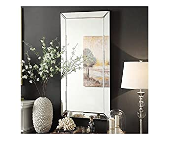 inspire q conrad decorative bevel mirrored frame rectangular accent wall mirror