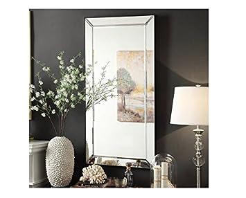 inspire q conrad decorative bevel mirrored frame rectangular accent wall mirror