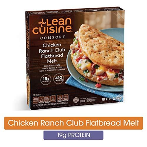 LEAN CUISINE COMFORT Chicken Ranch Club Flatbread Melt 6.5 oz. Box | Delicious Frozen Meals ()