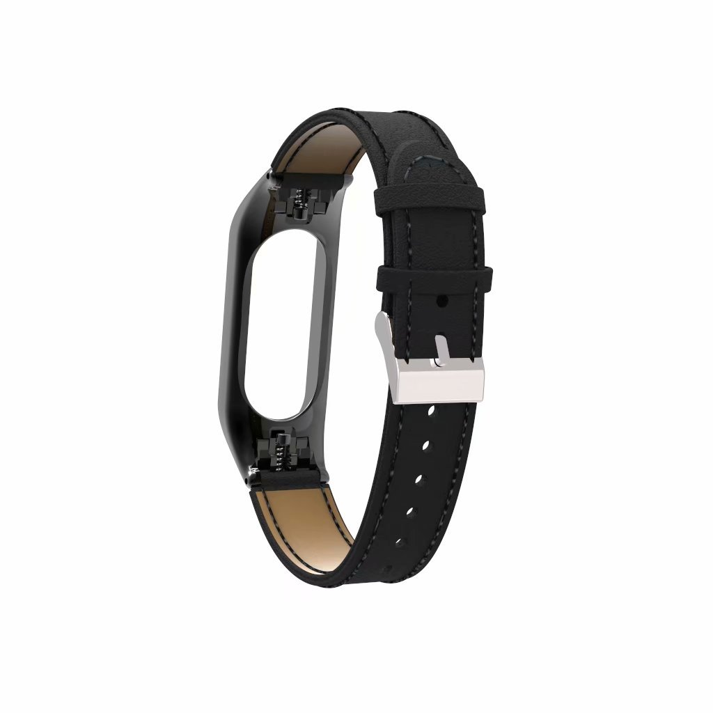 VANLUCKY-Mi Band3/Mi Band 4 Strap Band Replacement,Leather Bracelet Strap Band for XIAOMI Band 3/4 Smart Watch Accessories(No Tracker)