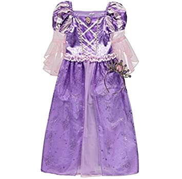 bf84b73be Disney Princess officially licensed Rapunzel fancy dress up Girls Book Week Tangled  Costume with Tiara.