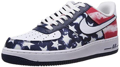 brand new ac653 94429 Galleon - Nike Men s Air Force 1 Midnight Navy White University Rd Basketball  Shoe 9.5 Men US