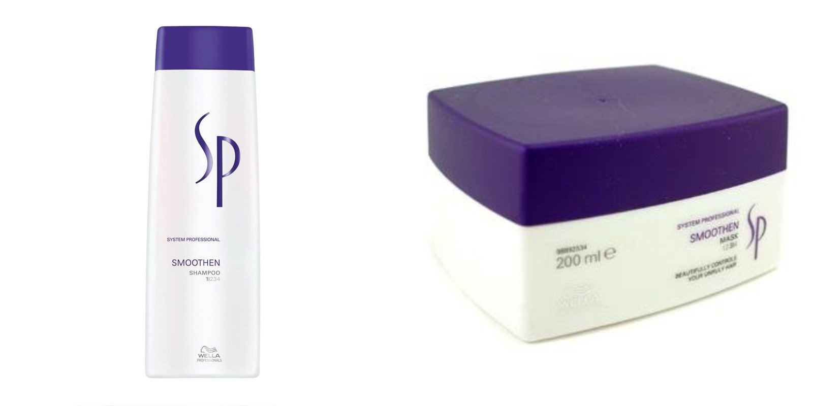 Wella System Professional Sp Smoothen Shampoo 250ML & Mask 200 ML Combo Pack