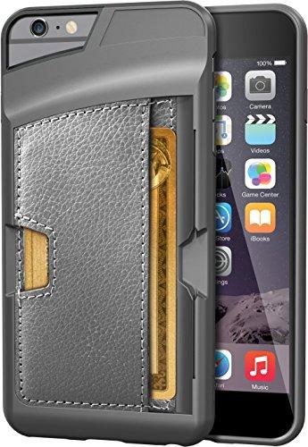 Silk iPhone 6 Plus/6s Plus Wallet Case - Q CARD CASE [Slim Protective Kickstand CM4 Credit Card ID Phone Cover] - Wallet Slayer Vol.2 - Gunmetal Gray