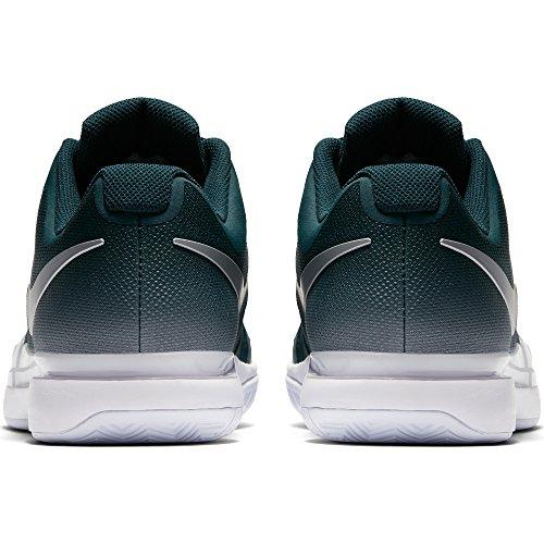 Herren Nike Zoom Vapor 9.5 Tour Tennisschuhe (Winter 2017 Farben) Dark Atomic Teal / Metallic Silber