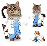 Pet Doctor Dog Cat Costume Clothes Funny Cosplay Small Puppy Party (S)