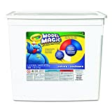 Crayola 574415 Model Magic Modeling Compound, 8 oz each Blue/Red/White/Yellow, 2lbs.