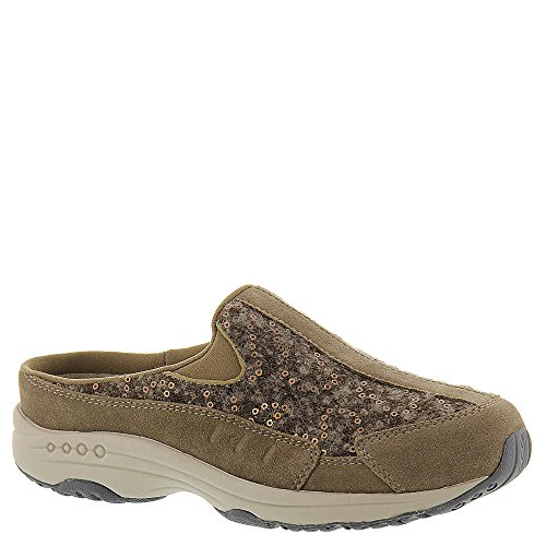 Easy Spirit Suede Clogs (Easy Spirit Women's Traveltime Clog, Dark Taupe/Dark Taupe Suede, 8.5 N US)
