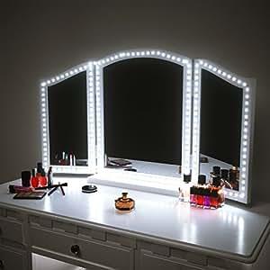 Led vanity mirror lights kit for makeup dressing table vanity set led vanity mirror lights kit for makeup dressing table vanity set 13ft flexible led light strip aloadofball Choice Image
