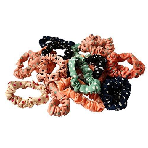 TOOGOO(R) 10Pcs Hair Band Rope Hairband Ponytail Holder