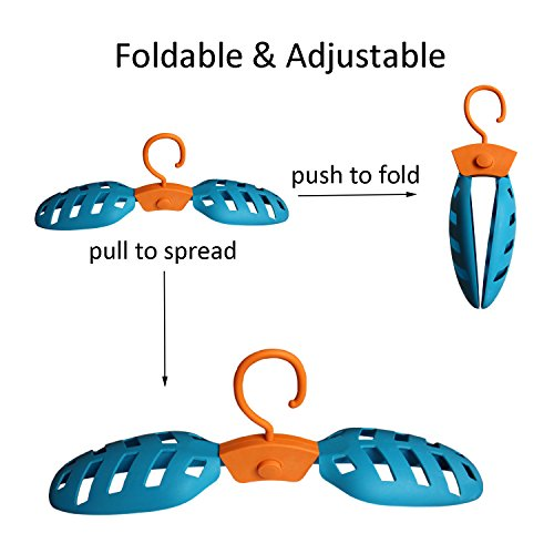 Onefeng Sports 1 Pack Foldable Wet Suit Hanger For Traveling Camping Laundry Hotel Plastic Clothes Wetsuit Hangers (Blue, 1 Pack) by Onefeng Sports (Image #2)