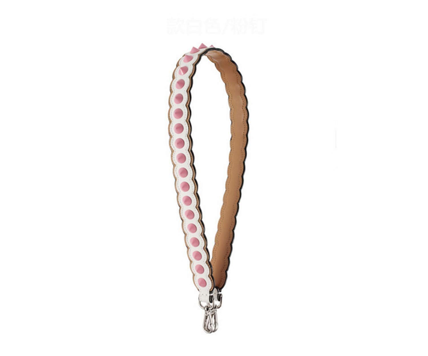 Woman Bag Strap Leather Short Strap with Studs Strapper You Bag Accessories Ladies Shoulder Strap