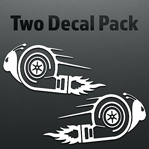 Boosted Turbo Snail Vinyl Decal Sticker (2 Pack) | Cars Trucks Vans SUVs Windows Walls Cups Laptops | White | 2-6.5 Inch Decals | KCD2414