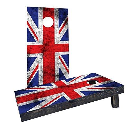 買取り実績  Custom Cornhole Boards CCB1217-2x4-C Worn Cornhole National (United Kingdom) Kingdom) Flag Custom Cornhole Boards [並行輸入品] B07HLKSJS2, GZONEゴルフ:7022f3c8 --- arianechie.dominiotemporario.com