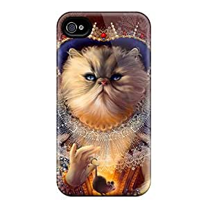 Premium FQCGsOE1599LRAXv Case With Scratch-resistant/ Queen Of Cats Case Cover For Iphone 4/4s