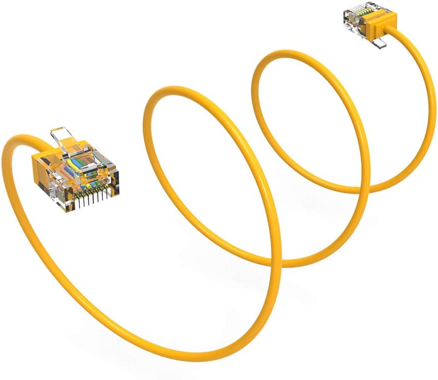 32AWG Network Cable with Gold Plated RJ45 Non-Booted Connector GOWOS Cat6a Super Slim Ethernet Cable Blue 550MHz 10-Pack - 1 Feet 10 Gigabit//Sec High Speed LAN Internet//Patch Cable