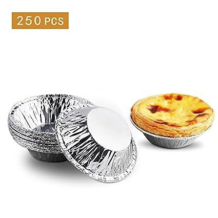 Yunhigh 250pcs desechables huevo hoja pastel tarta molde pastelería pastelería moldes bandeja de estaño fabricante de