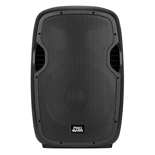 "Rechargeable Pa System - Pro Bass Underground 15, Portable Battery Powered 15"" Loudspeaker, 1600W, Bluetooth, USB, MP3 Player"