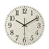 Imoerjia Creative Wall Clock Living Room Bedroom Wall Table Wooden Clocks Clock Mute Art Deco Wall Clock,30Cm