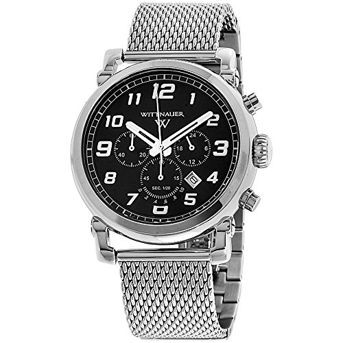 Wittnauer Men s Quartz Stainless Steel Casual Watch, Color Silver-Toned Model WN3070