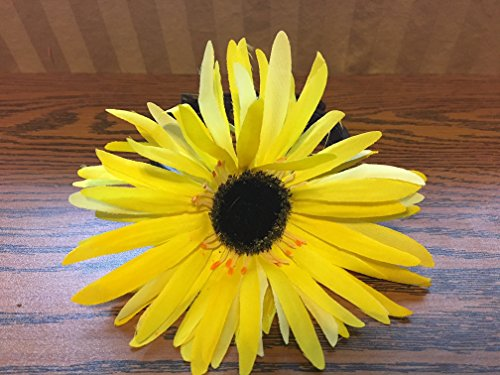 Yellow satin flower-Dog Accessory by Creations by Glo
