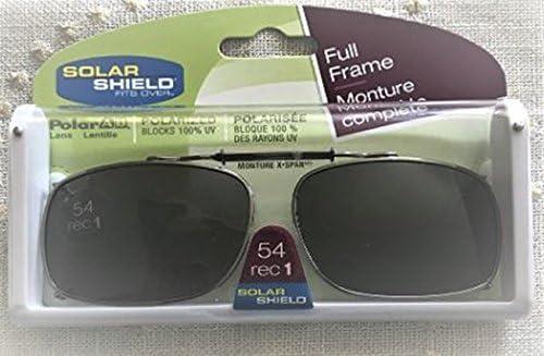 1db8917bbde Amazon.com   Solar Shield 54 Rec 1 Full Frame Polarized Clip on Glasses  Blocks 100% Uva uvb   Sports   Outdoors
