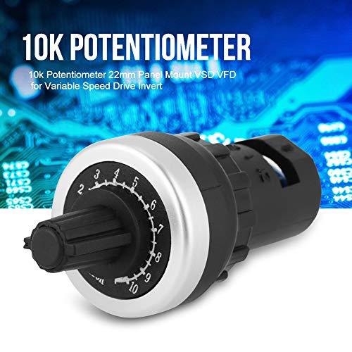 Power Inverter - Variable Speed Drive Potentiometer 10k Potentiometer Panel Mount VSD Potentiometer VFD for Variable Speed Drive Invert LA42DWQ