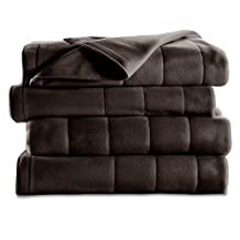 Sunbeam BSF9SKS-R470-16B50 King Quilted Fleece Heated Blanket, Walnut