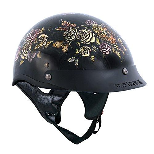 Hot Leathers Women's Key Lock Heart D.O.T Helmet (Gloss, - Outlaw Gloss Dot