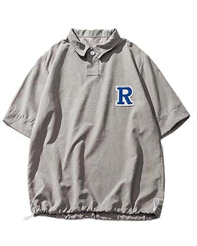 STRDK メンズ ポロシャツ 半袖 カジュアル シンプル 無地 スキニー ファッション おしゃれ スポーツ ウェア ゴルフウェア Polo 衫