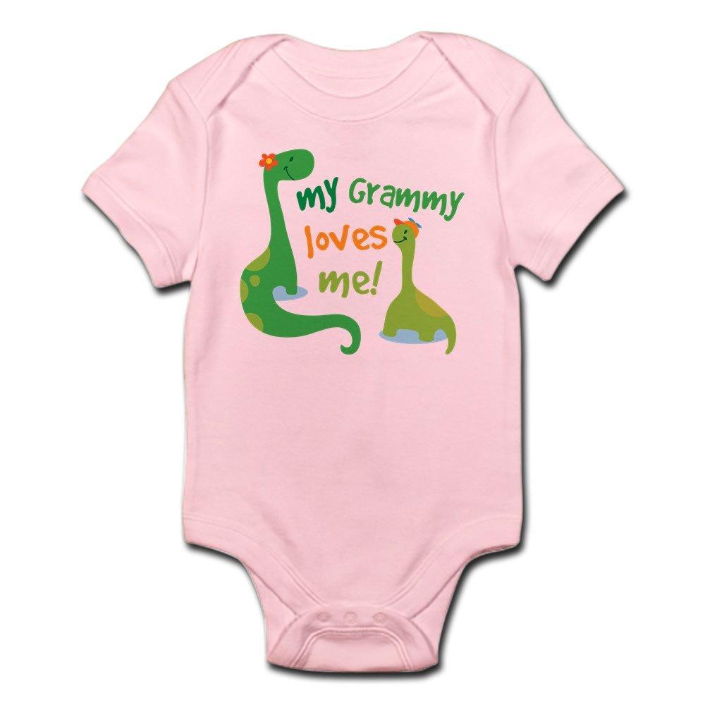 CafePress - My Grammy Loves Me Dinosaur - Cute Infant Bodysuit Baby Romper