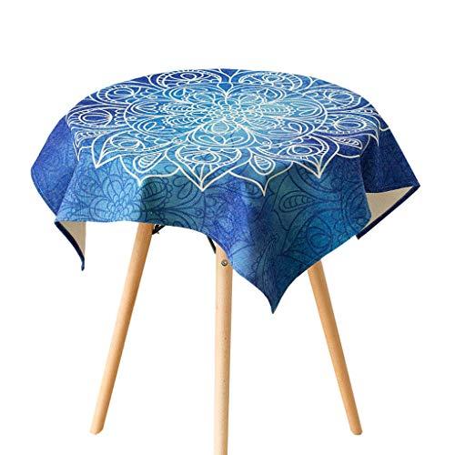 bleu 140180cm LiWeiHome Housse De Table en Nappe Bleue en Nappe Et Lin Nappe Antifouling Rectangulaire Table Basse Nappe voiturerée (Couleur   bleu, Taille   140  180cm)
