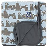 Kickee Pants Print Stroller Blanket - London Dogs