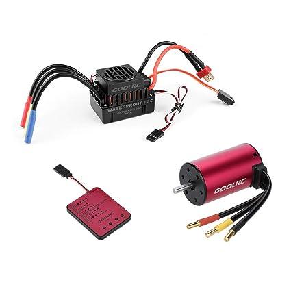 Amazon.com: GoolRC S3660 3800KV Sensor sin escobillas motor ...
