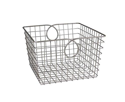 Spectrum Diversified Teardrop Storage Basket, Large, Satin Nickel (Stainless Steel Kitchen Basket)
