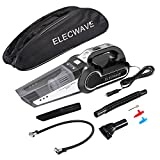 4-in-1 Car Vacuum Cleaner, Elecwave 12V 120W Wet Dry 4Kpa Suction Handheld Auto Vacuum Cleaner with Cigarette Lighter Plug 18 FT(5.5M) Power Cord Carrying Bag and Replaceable Filter